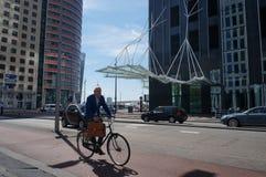 Moderna byggnader i Rotterdam Royaltyfri Foto