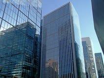 Moderna byggnader i Santiago, Chile arkivbild