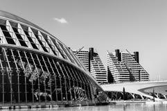 Moderna byggnader i stad av konster och vetenskaper, Valencia arkivfoto