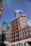 Moderna byggnader i stadsmitten av Haugen, alla byggnader Royaltyfri Fotografi