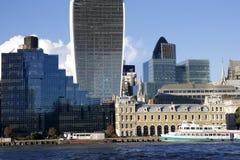 Moderna byggnader, London cityscape Fotografering för Bildbyråer