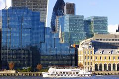 Moderna byggnader, London cityscape Arkivfoto