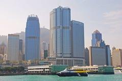 Moderna byggnader på centrala Hong Kong Island royaltyfria bilder