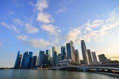Moderna byggnader på centret i Singapore Royaltyfri Fotografi