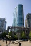 Moderna byggnader på i stadens centrum Vancouver F. KR. Kanada Royaltyfri Bild