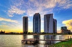 Solnedgång i Putrajaya Arkivbilder