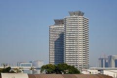 Moderna byggnader på Tokyo skäller i Tokyo, Japan Fotografering för Bildbyråer