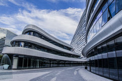 Moderna byggnader, Peking Royaltyfri Foto