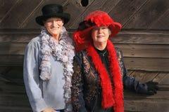 Moderna cowgirlar Fotografering för Bildbyråer
