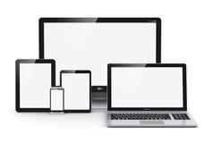 Moderna datorapparater Fotografering för Bildbyråer