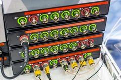 Moderna digitala mäta instrument Multimetric utrustning Arkivbild