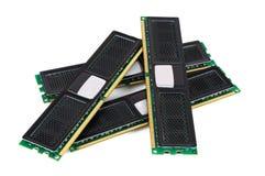 Moderna enheter för datorminne med det svarta elementet arkivbild