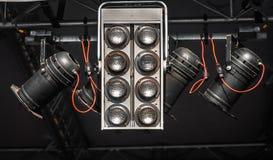 Moderna etapplampor Royaltyfri Fotografi