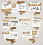 Moderna försäljningsbaner och etiketter Royaltyfri Illustrationer