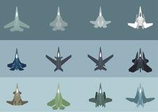 Moderna & futuristiska Jet Ffighters Arkivbild
