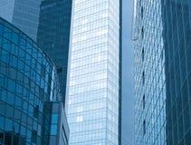 Moderna Glass byggnader Arkivfoto