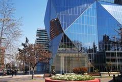 Moderna glass byggnader i Santiago, Chile royaltyfria bilder