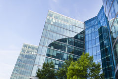 Moderna glass fasader i London Royaltyfri Fotografi