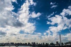 Moderna höga löneförhöjningar i Tokyo Royaltyfria Foton