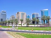 Moderna höghus i Dubai Arkivfoton