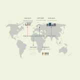 Moderna Infographic element Fotografering för Bildbyråer