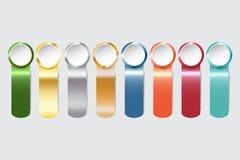 Moderna infographic färgstålremsor med cirklar Royaltyfria Foton