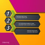 Moderna infographic realistiska designbeståndsdelar Royaltyfri Fotografi