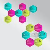 Moderna infographicsbeståndsdelar också vektor för coreldrawillustration Royaltyfri Bild