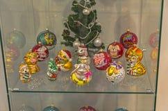 Moderna julleksaker på symbolerna av det kinesiska horoskopet Royaltyfri Fotografi