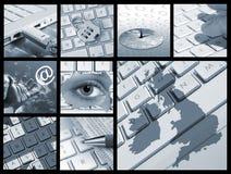 Moderna kommunikationer stock illustrationer