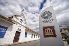 Moderna konsterna som bygger i Cuenca Arkivbild