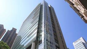 Moderna kontorsbyggnadar i centrala Hong Kong lager videofilmer