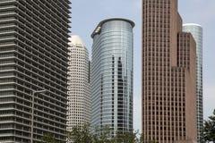 Moderna kontorsbyggnadar i Houston Arkivbilder