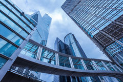 Moderna kontorsbyggnader i Hong Kong Arkivbild