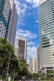 Moderna kontorsbyggnader i mitten av Kuala Lumpur Arkivbild