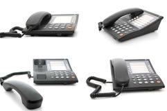 moderna kontorspacketelefoner Royaltyfri Fotografi