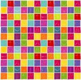 Moderna kristna symboler på färgrik en repeatable schackbrädebakgrund - vektor illustrationer