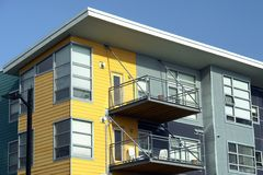 moderna lägenheter Fotografering för Bildbyråer