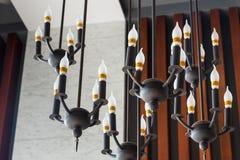 Moderna lampor för ljus kula för stil av hotellet thailand Royaltyfri Fotografi