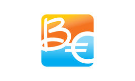 Moderna Logo Solution Letter ÄR Arkivfoton