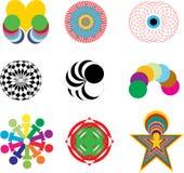 Moderna logoer som isoleras på vit bakgrund Fotografering för Bildbyråer