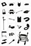 Moderna medicinsk utrustning och tillförsel - uppsättning 3 stock illustrationer