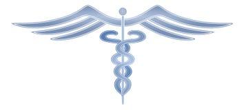 Moderna medicinska Cadeceus Arkivbild