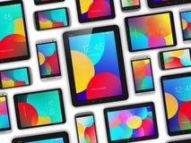 Moderna mobila enheter Arkivfoto