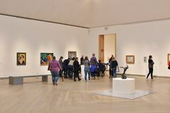 Moderna museet, Stockholm. Moderna museet is a museum of Swedish, Nordic and international modern and contemporary art in Stockholm. The museum`s task is to Royalty Free Stock Photo