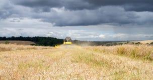 Moderna nya skördar för Holland skördetröskaklipp Royaltyfri Fotografi