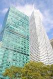 moderna nya skyskrapor york för stad Arkivfoton