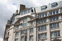 Moderna och gamla byggnader för arkitekturdetalj, London Arkivfoton