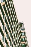 Moderna patern arkitekturfönster Arkivfoton