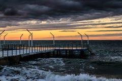 Moderna Pier On Marmara Sea Royaltyfria Foton